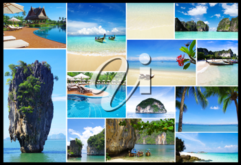 Royalty Free Photo of a Collage of Thailand