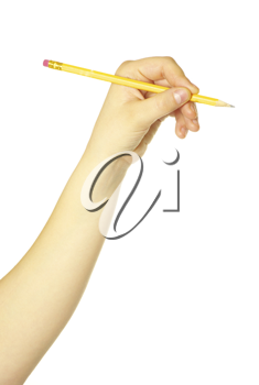 Royalty Free Photo of a Woman Holding a Pencil