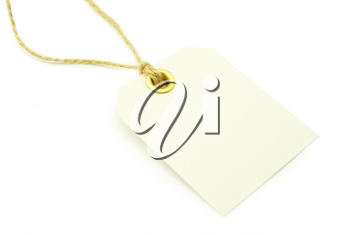 Blank tag isolated on a white background