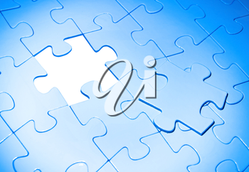 puzzles for background. business concept