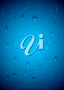 Royalty Free Clipart Image of a Water Drops Background