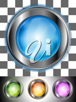 Royalty Free Clipart Image of a Set of Glossy Buttons