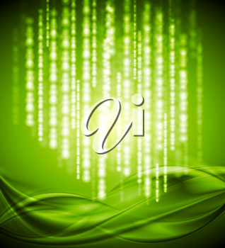 Royalty Free Clipart Image of a Bright Green Background