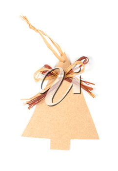 Royalty Free Photo of a Christmas Tree Label