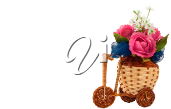 Royalty Free Photo of a Bicycle Vase With Flowers