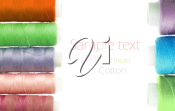 bobbins of thread isolated on white