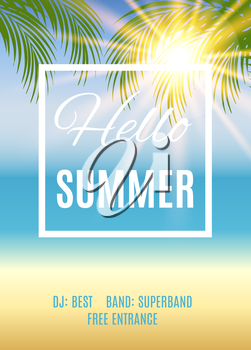 Summer party poster background. Vector illustration