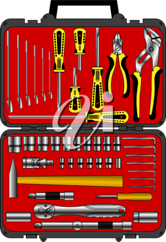 Royalty Free Clipart Image of a Tool Box