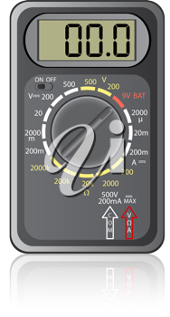 Royalty Free Clipart Image of a Digital Multimeter