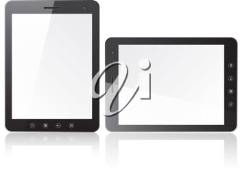 Royalty Free Clipart Image of Tablets