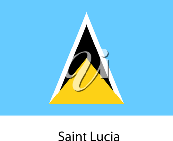 Flag  of the country  saint lucia. Vector illustration.  Exact colors.