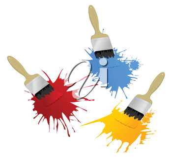 Royalty Free Clipart Image of Paint Brushes