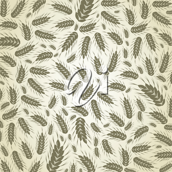 Background on a theme wheat. A vector illustration