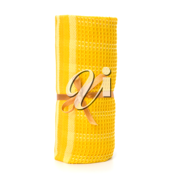 Towel roll  isolated on white background