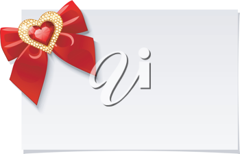 Royalty Free Clipart Image of a Blank Valentines Card