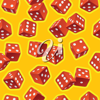 Royalty Free Clipart Image of a Seamless Dice Background