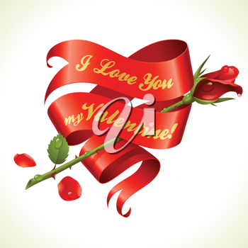 Royalty Free Clipart Image of a Valentine Greeting