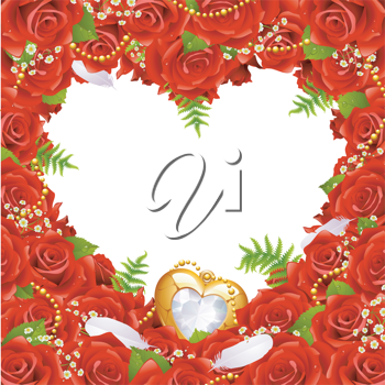Royalty Free Clipart Image of a Valentines Border