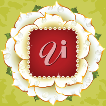 Royalty Free Clipart Image of a Rose Frame