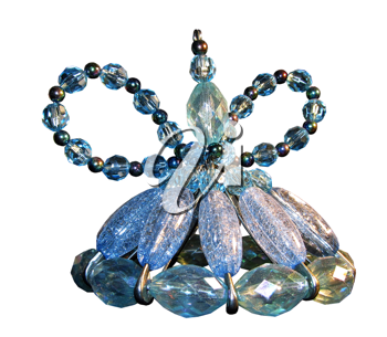 Royalty Free Photo of a Small Hand Crafted Crystal Bead Fairy