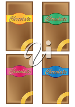 Royalty Free Clipart Image of Chocolate Bars