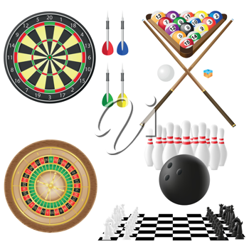 Royalty Free Clipart Image of Leisurely Activities