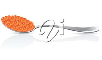 Royalty Free Clipart Image of Red Caviar
