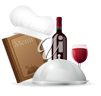 Royalty Free Clipart Image of a Resteraunt Set