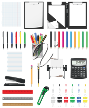 Royalty Free Clipart Image of Office Supplies