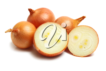 healthy white vegetable onion isolated white on background