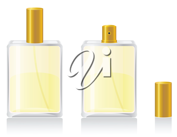 perfumes in bottle vector illustration isolated on white background