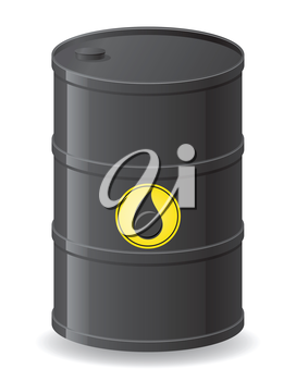 black barrel for oil vector illustration isolated on white background