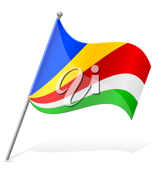flag of Seychelles vector illustration isolated on white background