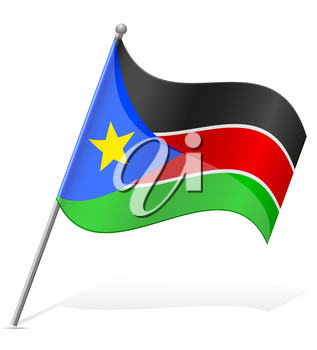 flag of South Sudan vector illustration isolated on white background