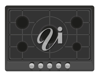 surface for gas stove vector illustration isolated on white background