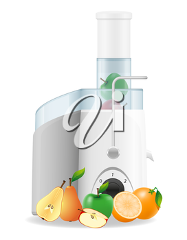 electric kitchen juicer vector illustration isolated on white background