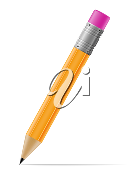 sharpened pencil vector illustration isolated on white background