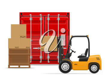freight transportation concept vector illustration isolated on white background