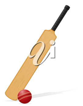 cricket bat and ball vector illustration isolated on white background