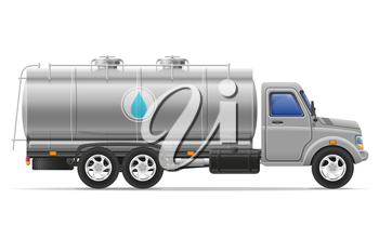 cargo truck with tank for transporting liquids isolated on white background