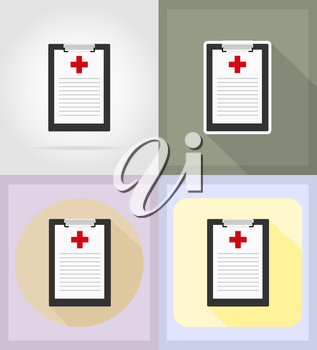 medical objects and equipment flat icons illustration isolated on background