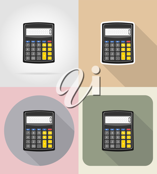 calculator flat icons vector illustration isolated on background