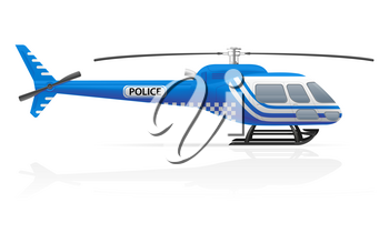 police helicopter vector illustration vector illustration isolated on white background