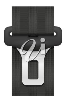 car seat belt for safety in case of accident vector illustration isolated on white background