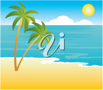 Royalty Free Clipart Image of a Beach Background