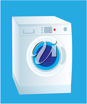 Royalty Free Clipart Image of a Washing Machine