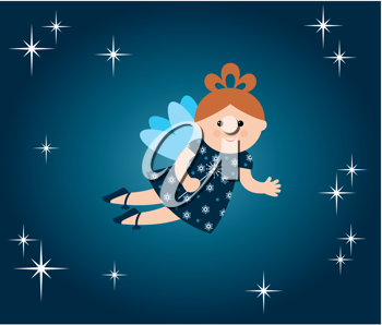 Royalty Free Clipart Image of a Fairy Background
