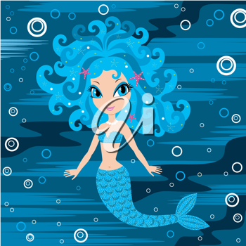 Royalty Free Clipart Image of a Mermaid Background