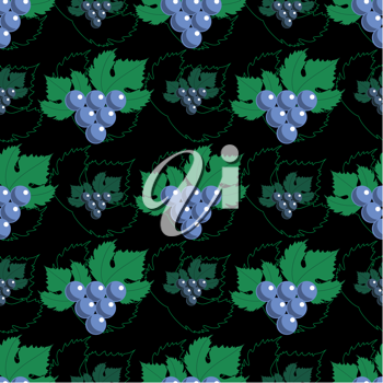 Royalty Free Clipart Image of a Grape Background