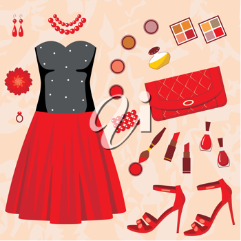 Royalty Free Clipart Image of a Fashion Background